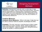 designing assessment methods