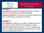 developing expected outcomes1