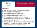 swot analysis exercise