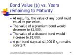 bond value vs years remaining to maturity2