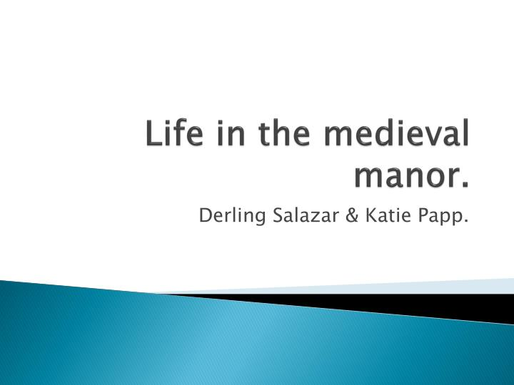 life in the medieval manor n.