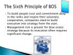 the sixth principle of bos