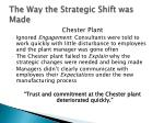 the way the strategic shift was made