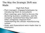 the way the strategic shift was made1
