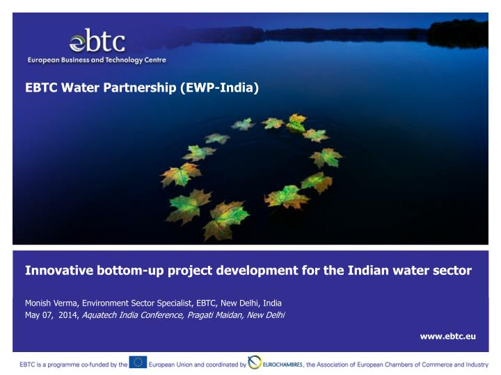 innovative bottom up project development for the indian water sector n.