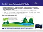 the ebtc water partnership ewp india