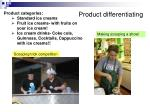 product differentiating