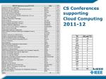 cs conferences supporting cloud computing 2011 12