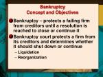 bankruptcy concept and objectives
