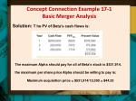 concept connection example 17 1 basic merger analysis1