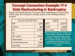 concept connection example 17 4 debt restructuring in bankruptcy