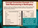 concept connection example 17 4 debt restructuring in bankruptcy1