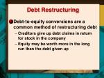 debt restructuring1