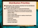 distribution priorities
