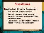 divestitures1