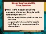 merger analysis and the price premium