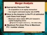 merger analysis