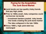 paying for the acquisition the junk bond market1