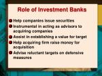 role of investment banks