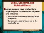 social economic and political effects
