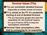 terminal values tvs