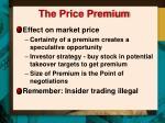 the price premium