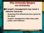 why unfriendly mergers are unfriendly