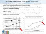 scientific publications have grown in volume
