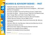 boards advisory bodies past