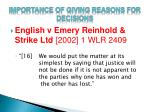 importance of giving reasons for decisions1