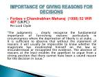 importance of giving reasons for decisions10