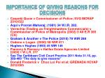 importance of giving reasons for decisions14
