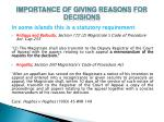 importance of giving reasons for decisions2