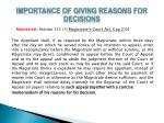 importance of giving reasons for decisions5