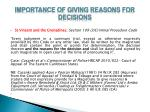 importance of giving reasons for decisions7