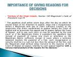 importance of giving reasons for decisions9