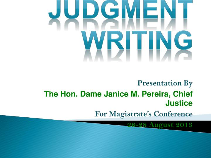 judgment writing n.