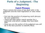 parts of a judgment the beginning1