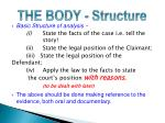 the body structure