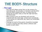 the body structure1