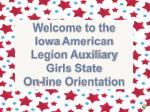 iowa american legion auxiliary girls state