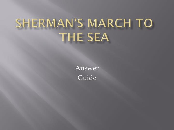 sherman s march to the sea n.
