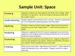 sample unit space