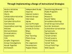 through implementing a range of instructional strategies