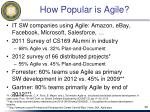 how popular is agile