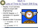 myth 3 lots of time to teach sw eng