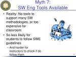 myth 7 sw eng tools available