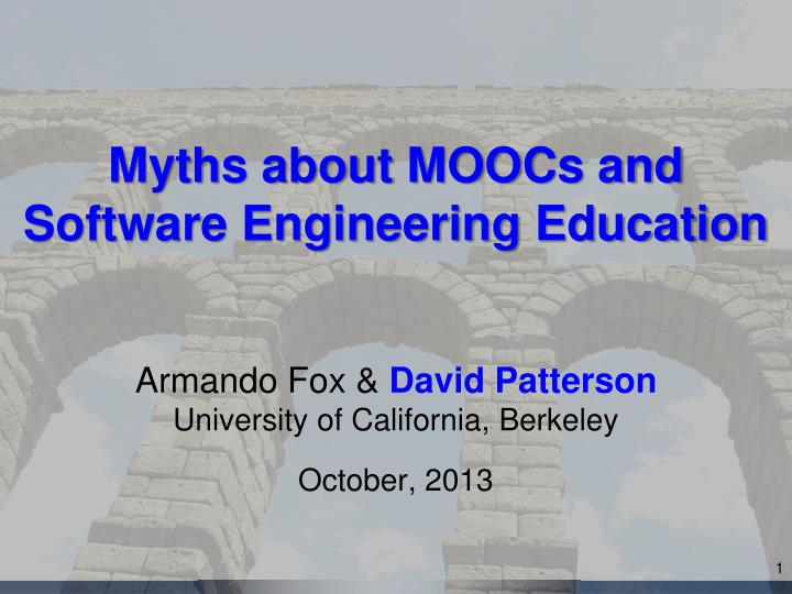myths about moocs and software engineering education n.