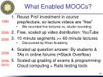 what enabled moocs