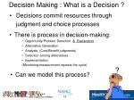 decision making what is a decision